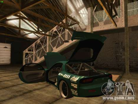 Mazda RX7 rEACT para la vista superior GTA San Andreas