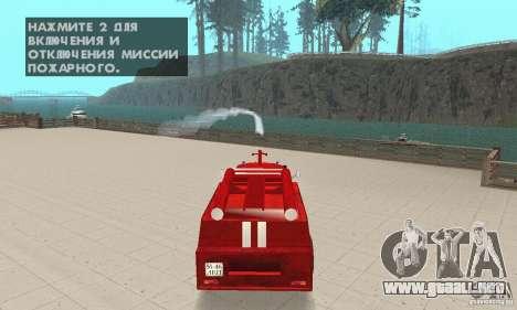ZIL-130 incendios para visión interna GTA San Andreas