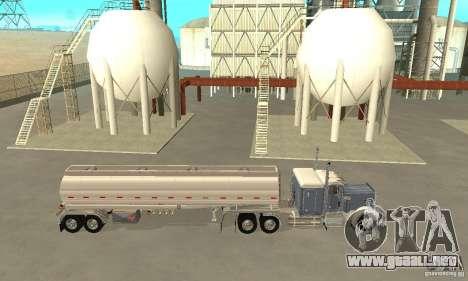 Peterbilt 379 Custom And Tanker Trailer para GTA San Andreas left