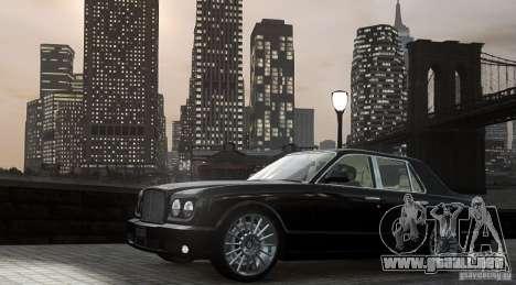 Bentley Arnage T v 2.0 para GTA 4 left