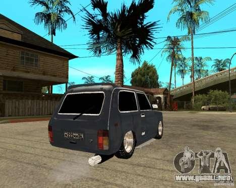 NIVA Mustang para GTA San Andreas vista posterior izquierda