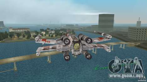 X-Wing Skimmer para GTA Vice City vista posterior