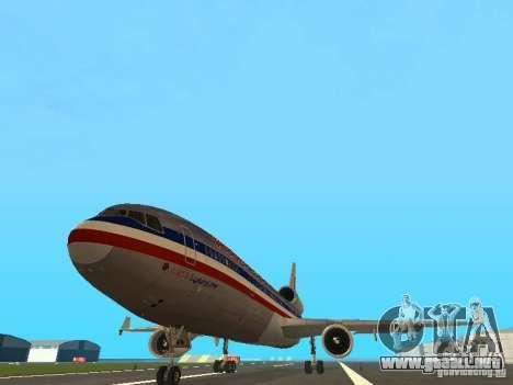 McDonell Douglas MD11 American Airlines para GTA San Andreas vista hacia atrás