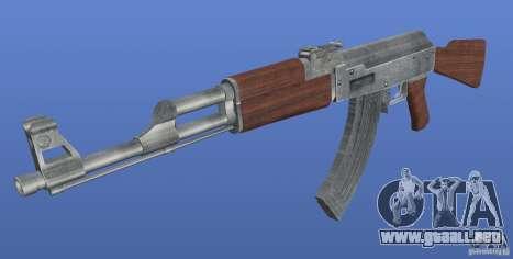 AK47 Retex 1.1 Chrome para GTA 4 segundos de pantalla