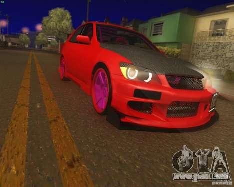 Toyota Altezza Drift Style v4.0 Final para GTA San Andreas