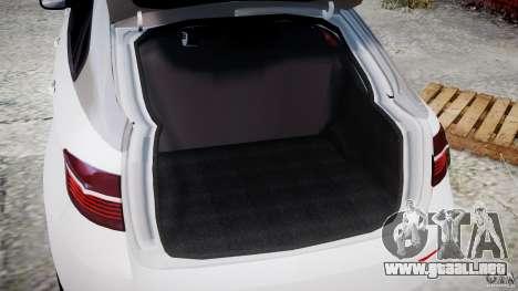 BMW X6M v1.0 para GTA 4 vista hacia atrás