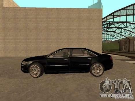 Audi A8 W12 S-Line para GTA San Andreas left