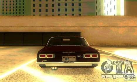 Nissan Skyline 2000-GTR para vista inferior GTA San Andreas