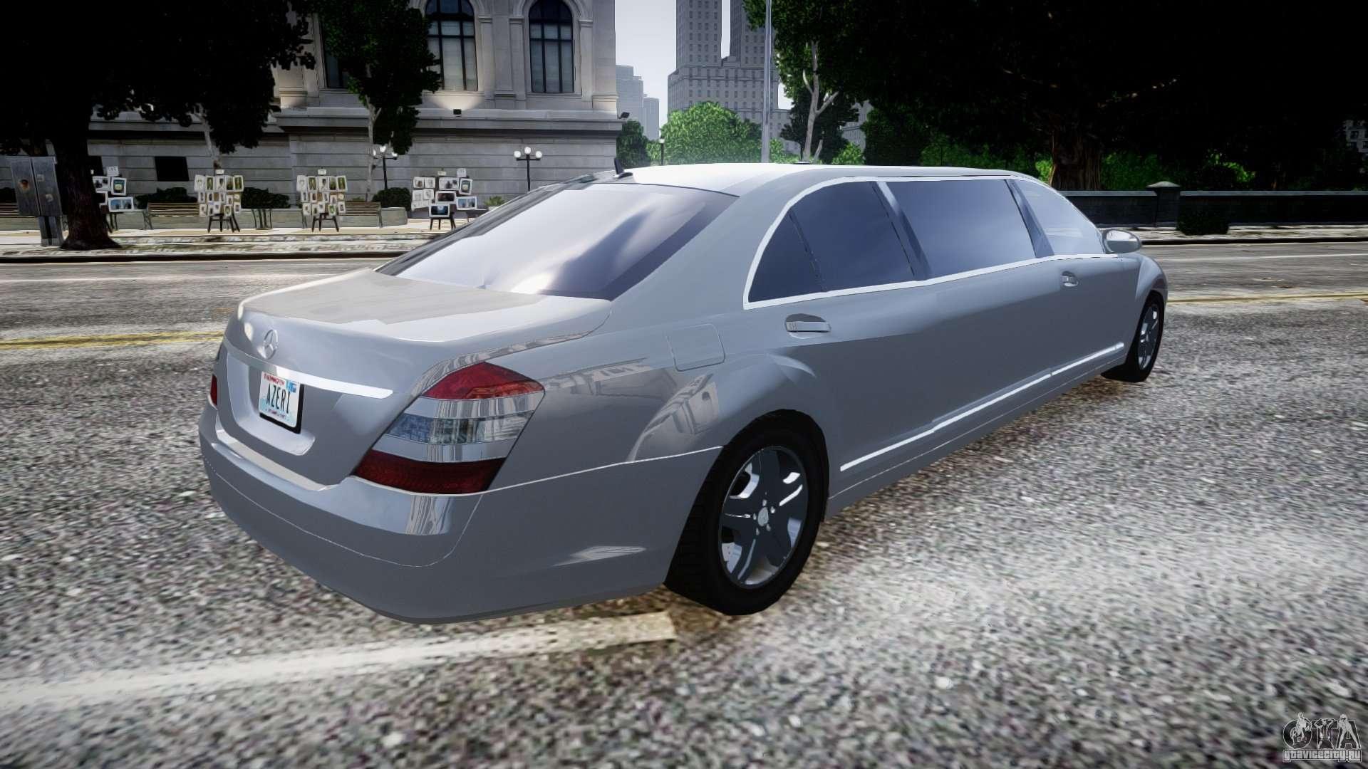 Mercedes benz s600 guard pullman 2008 para gta 4 for 2008 mercedes benz s600
