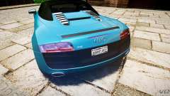 Audi R8 Spyder 5.2 FSI Quattro V4 [EPM] para GTA 4