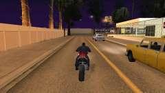 Salto de motocicleta en mi coche