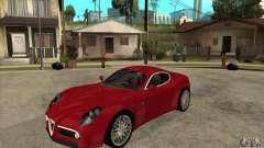 Alfa Romeo 8 c Competizione stock para GTA San Andreas