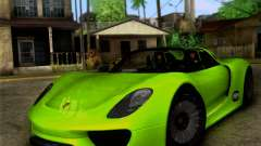 Porsche 918 Spyder Concept Study
