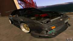 Nissan 180SX Gkon - Drift chrome para GTA San Andreas