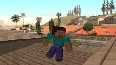 Steve de la piel de Minecraft juego