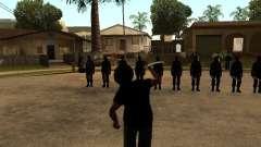 La lucha con las katanas en Grove Street
