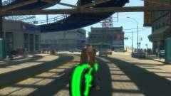 Motocicleta del trono (neón verde) para GTA 4