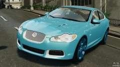 Jaguar XFR 2010 v2.0 turquesa para GTA 4