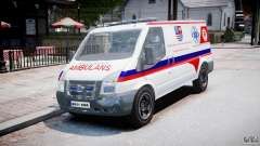 Ford Transit Polish Ambulance [ELS] para GTA 4