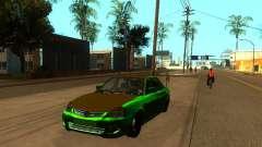 VAZ 2170 verde para GTA San Andreas