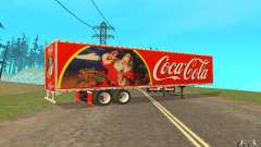 El semirremolque para Peterbilt 379 Custom Coca Cola para GTA San Andreas