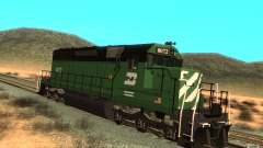 Locomotora SD 40 Burlington Northern 8072 para GTA San Andreas
