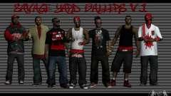 Las pieles de la cuadrilla Bloodz para GTA San Andreas