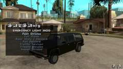 ELM v9 for GTA SA (Emergency Light Mod) para GTA San Andreas