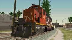 CN SD40 ZEBRA STRIPES para GTA San Andreas