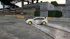 Subaru Impreza WRX STI Rallycross DC Gold Vinyl para GTA 4