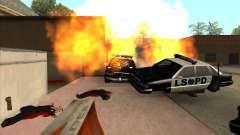 El guión de CLEO: ametralladora en GTA San Andre