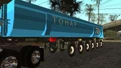 Doce ruedas semi-remolque-volquete TONAR 95231 para GTA San Andreas