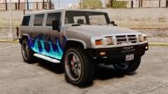 Patriota en la librea del fuego azul para GTA 4