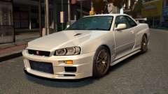 Nissan Skyline R34 2002 para GTA 4