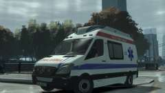 Mercedes-Benz Sprinter Azerbaijan Ambulance v0.1 para GTA 4