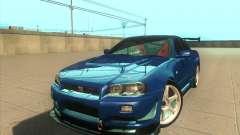 Nissan Skyline GT-R R34 M-Spec Nur para GTA San Andreas