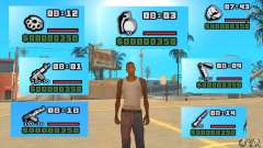 New Weapon Icon Pack para GTA San Andreas