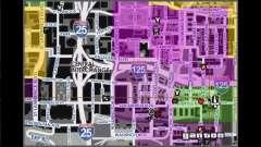 Mapa con nombres de la calle