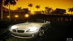 El BMW Z4 silver para GTA San Andreas