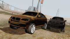 BMW X6M Oliva para GTA San Andreas