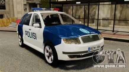 Skoda Fabia Combi Finnish Police ELS para GTA 4