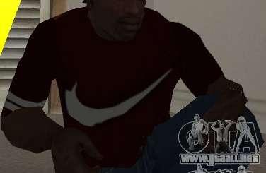 Camiseta Nike para GTA San Andreas