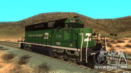 SD 40 Union Pacific Burlington Northern 3149 para GTA San Andreas