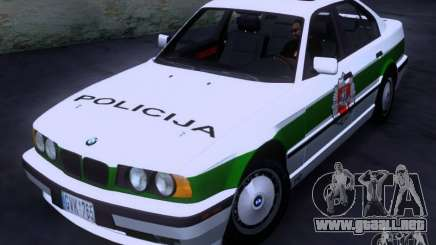 BMW E34 Policija para GTA San Andreas