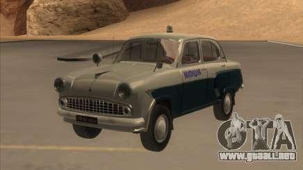 Moskvitch 403 con policía para GTA San Andreas