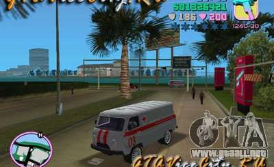 UAZ ambulancia v2.0 para GTA Vice City