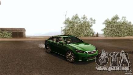 Lexus GS350F Sport 2013 para GTA San Andreas