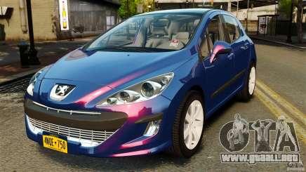 Peugeot 308 2007 para GTA 4