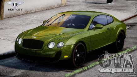 Bentley Continental SS 2010 Suitcase Croco [EPM] para GTA 4