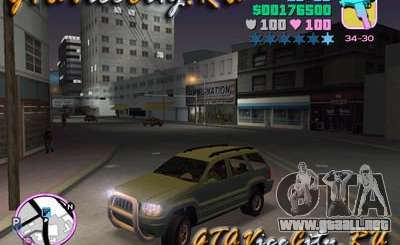 JEEP GRAND CHEROKIE para GTA Vice City